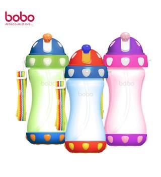 BOBO 乐儿宝 缤纷吸管水壶外出便携水壶380ml