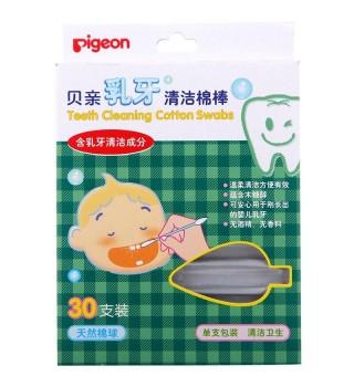 (Pigeon)贝亲 乳牙清洁棉签 30支