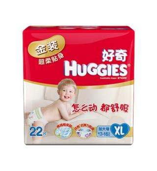 好奇 Huggies 金装超柔贴身纸尿裤特大号22片(XL)