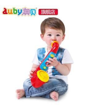 澳贝乐器 酷炫萨克斯声光吹奏乐器玩具 弹奏乐器
