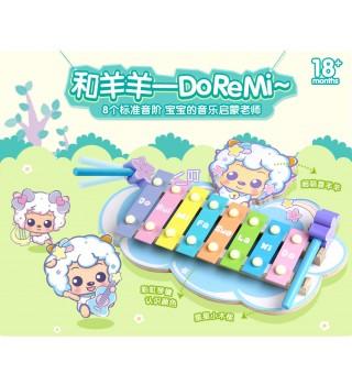 澳贝喜羊羊敲琴台宝宝早教益智八音手木琴儿童音乐1-3岁玩具乐器