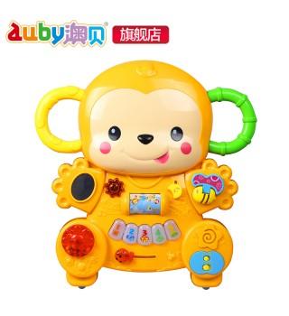 澳贝玩具 新款小猴学步车 踏行车 多功能早教益智