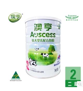 澳亨婴幼儿配方奶粉2段900g/罐
