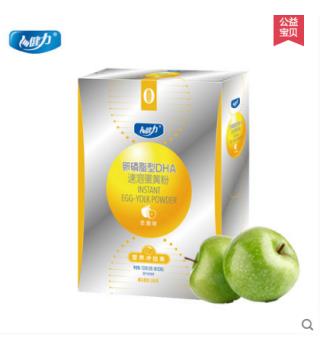 健力卵磷脂型DHA速溶蛋黄粉苹果味6g*20袋/盒