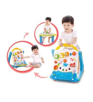 【6-18个月】澳贝玩具 电子多功能学习桌 婴幼儿童学步宝宝手推车