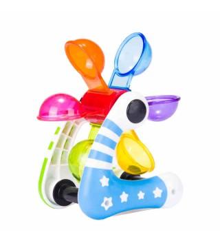 Toyroyal皇室沙滩玩具 宝宝大号洗澡玩沙多彩水车 儿童戏水水车