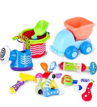 Toyroyal皇室沙滩玩具套装宝宝大号洗澡水枪儿童挖沙挖土戏水铲子