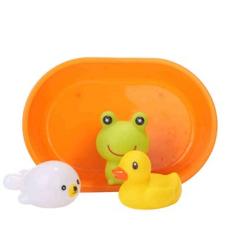 Toyroyal皇室玩具 宝宝欢乐洗澡组 儿童戏水小黄鸭喷水澡盆套装