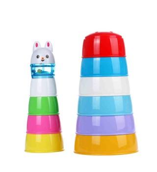 Toyroyal日本皇室玩具 动物缤纷学习杯 儿童叠叠乐 婴幼儿层层叠