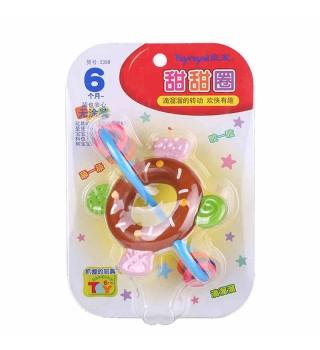 Toyroyal日本皇室玩具 婴儿摇铃 宝宝新生儿牙磨牙胶甜甜圈6个月