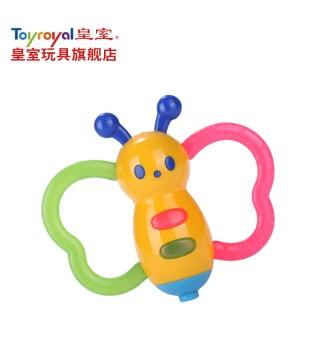 Toyroyal日本皇室玩具 婴儿摇铃 宝宝新生儿牙磨牙胶小蝴蝶6个月