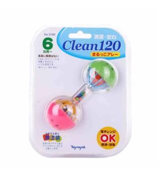Toyroyal日本皇室玩具 婴儿摇铃 宝宝新生儿牙磨牙胶哑铃6个月