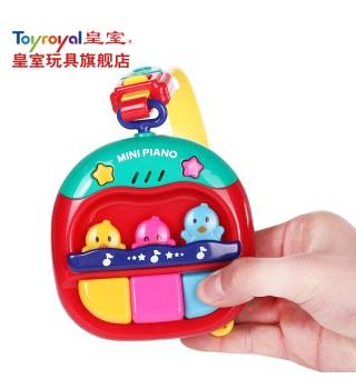 Toyroyal日本皇室玩具附软带三键琴 宝宝童车挂件 婴幼儿音乐玩具
