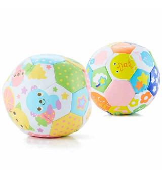 Toyroyal日本皇室玩具婴儿铃档球皮球足球手抓幼儿玩具球6-12个月