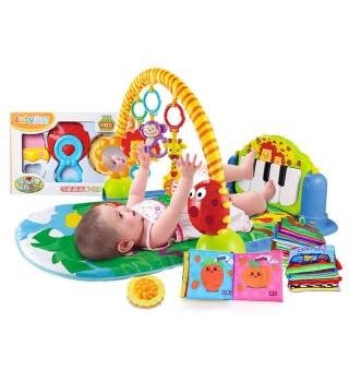 澳贝 新生儿豪华礼包 宝宝新生玩具 健身架布书牙胶摇铃