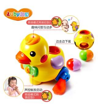 澳贝玩具 乖乖小鸭 下蛋鸭婴幼儿宝宝学爬学走