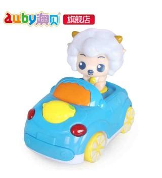 澳贝喜羊羊跑车 音乐电子车 仿真小车玩具