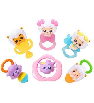 澳贝新品宝宝喜羊羊牙胶465201初生放心咬婴儿玩具0-1岁