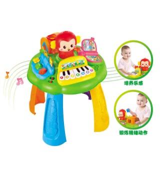 【9个月+】澳贝玩具 小猴学习桌 积木珠算琴键婴幼儿童益智早教