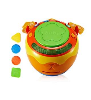 【18个月】澳贝玩具 音乐拍拍鼓 手拍鼓 婴幼儿乐器 灯光音乐