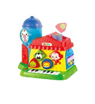 澳贝早教玩具 智慧学习屋 积木珠算琴键婴幼儿益智玩具