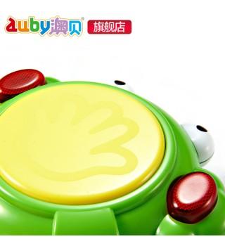 【9个月】澳贝玩具青蛙小鼓 宝宝音乐灯光拍拍鼓 儿童乐器手拍鼓
