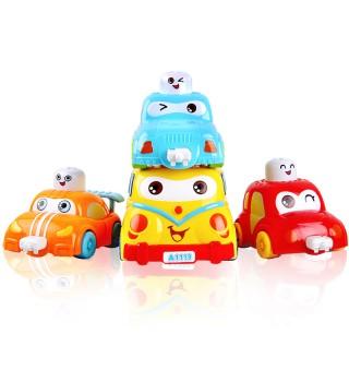 auby澳贝正品 新品小车托儿所 奥贝幼儿童益智宝宝玩具车队