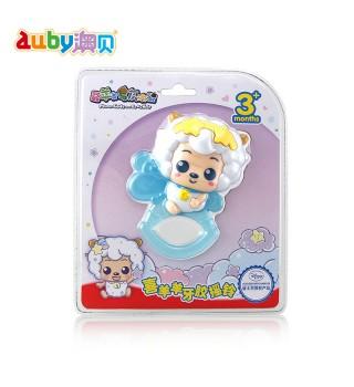 澳贝 喜羊羊美羊羊牙胶摇铃 羊年生肖摇铃牙胶 初生婴儿玩具0-1岁