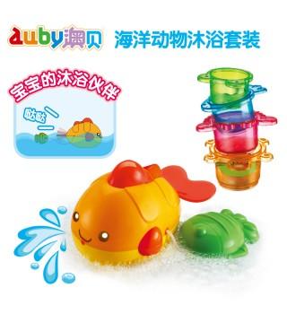 澳贝海洋动物沐浴宝宝洗澡戏水玩具 儿童沙滩玩沙挖沙子玩具套装
