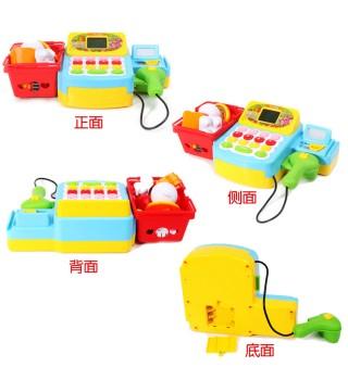 澳贝欢乐收银机奥贝幼儿童小女孩过家家仿真玩具收银台套装3-6岁