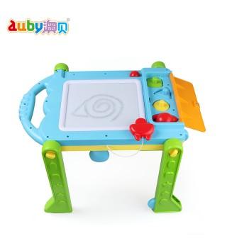 澳贝喜羊羊多功能学习桌奥贝幼儿童宝宝学步车玩具台游戏桌