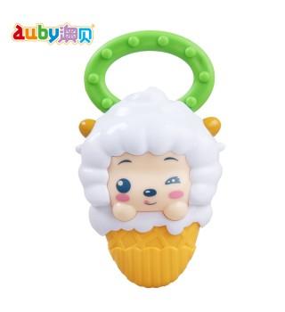 澳贝喜羊羊灰太狼牙胶手摇铃奥贝宝宝早教初生婴儿玩具
