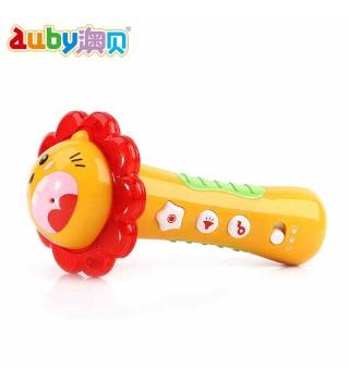 auby_澳贝小明星麦克风音乐话筒幼儿童唱歌乐器 宝宝早教玩