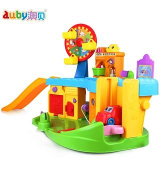 澳贝宝宝早教益智星期天小镇玩具 儿童仿真多场景过家家玩具套装