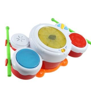 澳贝聪明小鼓手奥贝音乐乐器拍拍鼓音乐鼓敲击鼓幼儿童玩具