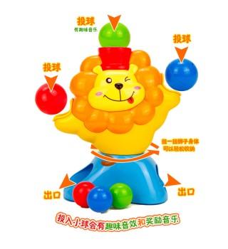 澳贝聪明小投手奥贝幼儿童投球宝宝早教益智婴儿动手狮子玩具
