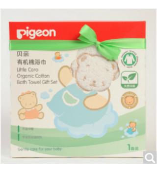 贝亲—有机棉浴巾(单条盒装)