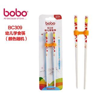 bobo乐儿宝儿童宝宝便携不锈钢汤勺叉筷子组合婴儿防滑餐具套装