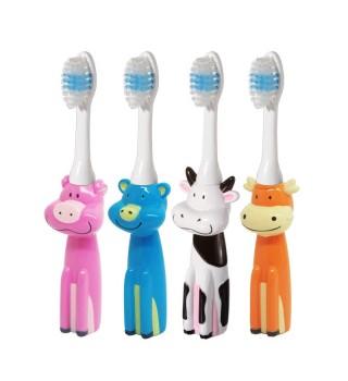 bobo乐儿宝儿童训练牙刷1-2-3岁婴幼儿宝宝练习乳卡通软毛牙刷