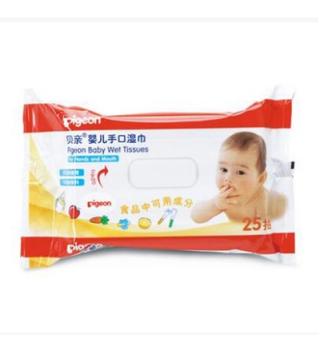 贝亲—婴儿手口湿巾25片装(无酒精)