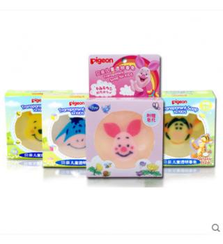 贝亲-儿童透明香皂(小猪皮杰卡通人物) 80g
