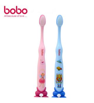 bobo乐儿宝牙刷 深度清洁牙刷 宝宝细毛牙刷 单只装6岁以上