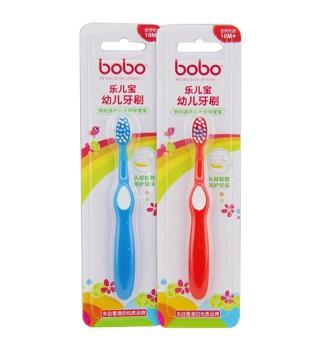 乐儿宝BOBO 幼儿牙刷 宝宝牙刷 防蛀牙软头婴儿18个月以上 BS301