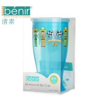 benir清素唇吸杯360度自然学饮杯 儿童防漏饮水杯水壶喝水杯子