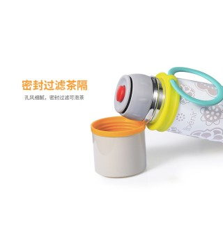benir清素儿童水杯保温杯宝宝不锈钢保温杯婴儿学饮杯学生保温瓶