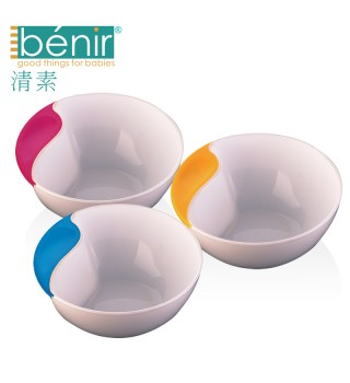 benir清素婴儿辅食碗宝宝喂食碗儿童餐具学食防滑碗新生儿训练碗