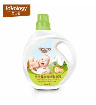 全因爱宝宝草本亲肤洗衣液植物柔护精华婴儿专用洗衣液 3L超值装