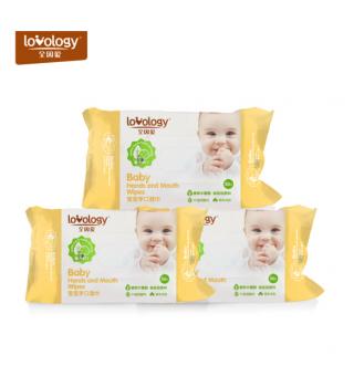 全因爱湿巾宝宝手口专用儿童湿纸巾宝宝小包湿巾纸便携装30抽×3包