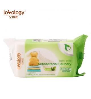 全因爱抑菌防螨宝宝洗衣皂婴儿肥皂儿童尿布皂新生儿香皂180g*3块
