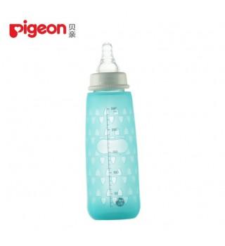 贝亲正品新生儿标准口径玻璃奶瓶 防摔瓶套安心组合母婴用品120ml/240ml